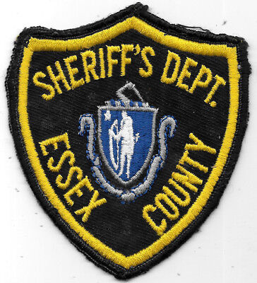 "Police Patch: Sheriff's Dept. Essex County New Jersey Measures 4"" X 4 1/2"""