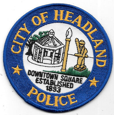 Police Patch: City Of Headland Police Alabama Measures 3 1/2""