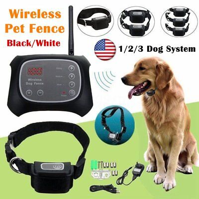 Wireless Dog Fence Pet Containment System Electric Transmitter Collar KZ#