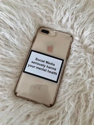 Social Media Seriously Harms Your Mental Health Stickers For Phone Case