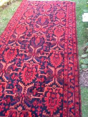 Glorious Hand-Knotted Persian Malayer Rug Runner.  About 60+ Years Old.