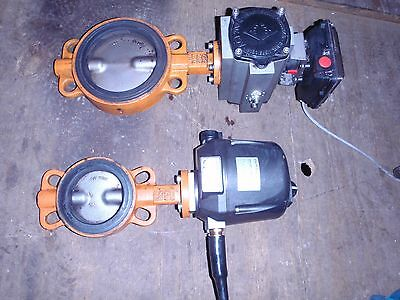 "10 x PNEUMATIC/HYDRAULIC ACTUATED 6"" POWERED BUTTERFLY VALVE INDUSTRIAL"