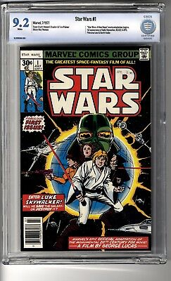 Star Wars (1977) # 1 CBCS 9.2 White Pages - First appearance Luke Skywalker