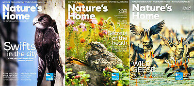 RSPB Nature's Home Magazines x 3 RSPB Natures Home Summer Autumn Winter 2017