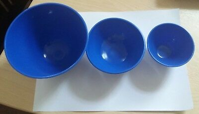 Dental Lab Hygienist Flexible Mixing Bowl Rubber 3 sizes blue for Impression