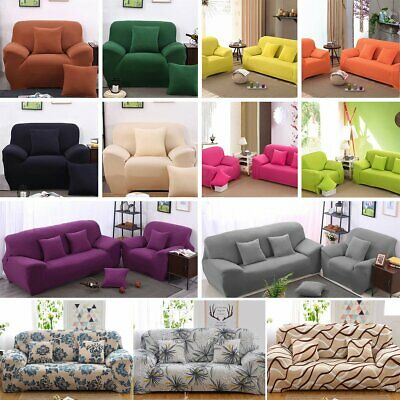 1-4 Seaters Home Soft Elastic Sofa Cover Easy Stretch Slipcover Protector Couch