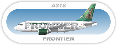 Airbus A318 Frontier aircraft profile sticker