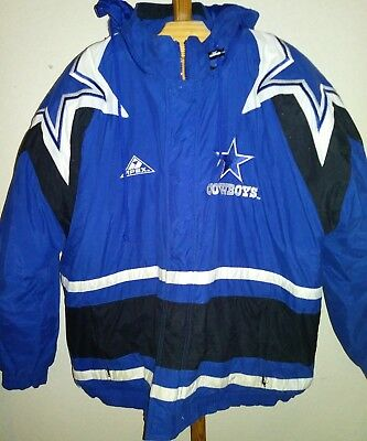 Vintage Adults XL Dallas Cowboys Puffer Jacket NFL PROLINE Apex One Stitch Blue