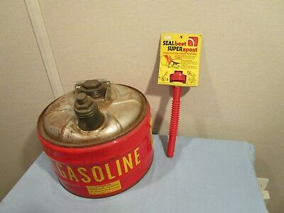 Metal Gas can Made in the USA 2 1/2 Gallon With Seal Best Spout