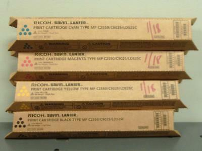 Genuine Ricoh Savin Lanier Print Cartridges type MP C2550 /C9025 /LD525C CMYK