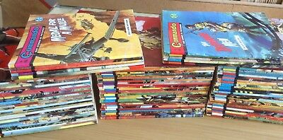 Commando war comics x 100. All between the numbers 300 to 496, From 1967 to 1970