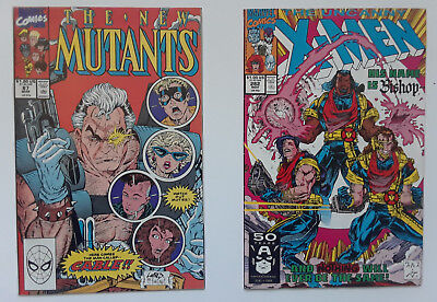 New Mutants 87 1990 Marvel High Grade 1st Cable w/free bonus 1st app of Bishop!!