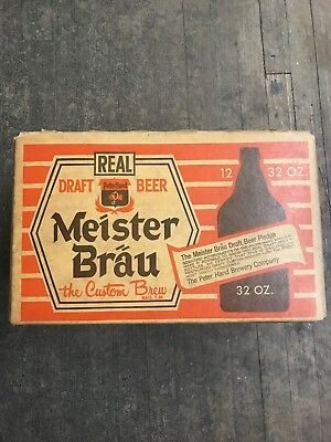 Vintage Meister Brau Beer Bottle Old Case Crate Box