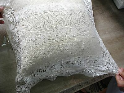 Beautiful Antique Lace Pillow Cover - Very Fine Workmanship