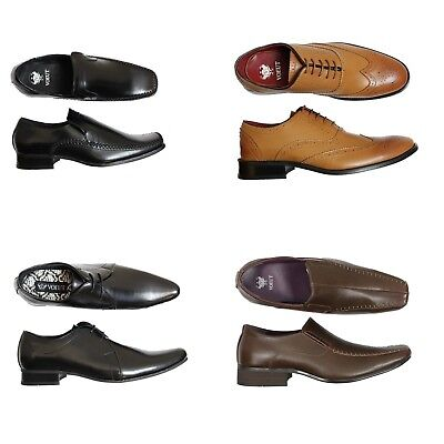 NEW Mens BLACK Leather Shoes Smart Formal Dress PARTY Wedding Lace Up OFFICE