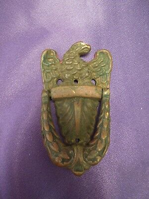 Victorian Ornate American Eagle Antique Brass Door Knocker