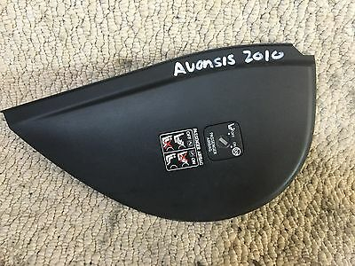 Toyota Avensis T2 2.0 D4D Passenger Dash End Trim With Air Bag Switch 2010