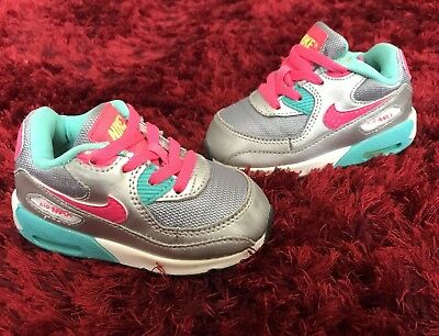 Infant Girls Nike Air Max Trainers Size Uk 5.5