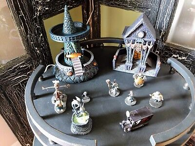 hawthorne village nightmare before christmas village set figurines and houses