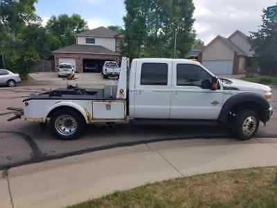 2012 Ford F550 Lariat 4x4 dually diesel self loader tow - repo - haul truck