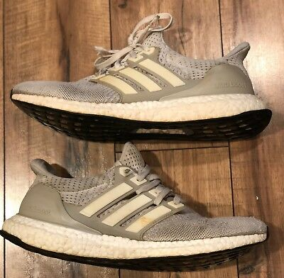 cheap for discount 4623e 67834 Mens Adidas Ultraboost 1.0 Chalk Cream AQ5559 Yeezy NMD Running Shoes Size 9