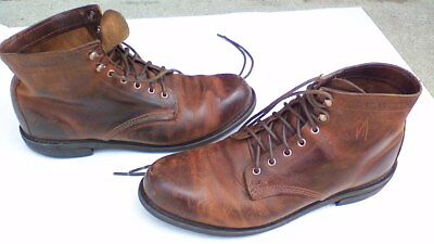Wolverine 1000 Mile-Pre-Owned Men's Size 10.5  Brown Leather 7 Eyelet Work Boot
