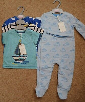 Baby Boy Bundle Tshirts and Sleepsuit size 6-9 months BNWT