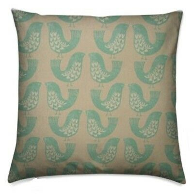 "handmade cushion cover using iliv kiwi scandi duck egg  16"" 40cm free uk postage"