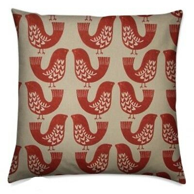 "handmade cushion cover using iliv kiwi scandi scarlet red  16"" 40cm free uk post"