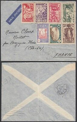 Nigeria 1938 - Airmail cover and used stamps to France ........(5G-24535) B4471