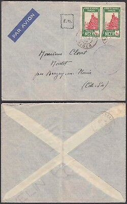 Nigeria 1938 - Airmail cover and used stamps to France .......(5G-24535) B4472