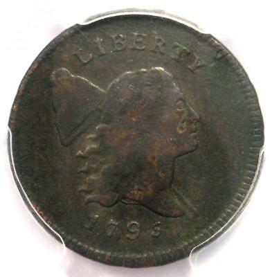 1795 Liberty Cap Flowing Hair Half Cent 1/2C Punctuated Date - PCGS VF Details!
