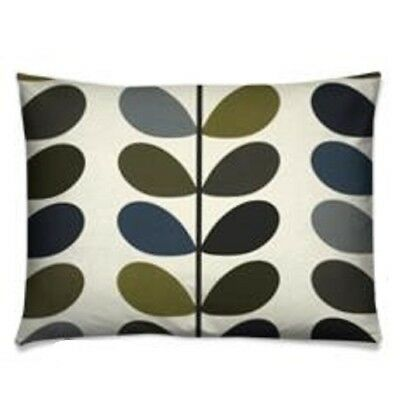 handmade cushion cover using orla kiely multi stem moss green blue oblong