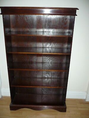 WOODEN BOOKCASE with Five Shelves (H = 53 by W= 32 by D= 11.5 inches) Edwardian?