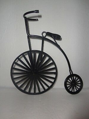 Home Interiors  8'' Black Metal Bike  '' Wall Accents
