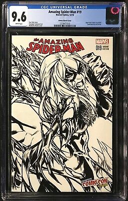 Amazing Spider-Man #19 CGC 9.6 Ramos NYCC 2016 Connecting Sketch Variant!