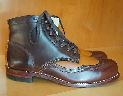 New! Wolverine Addison 11 D 1000K Brown Cordovan Wing Tip Boot Horween Tan