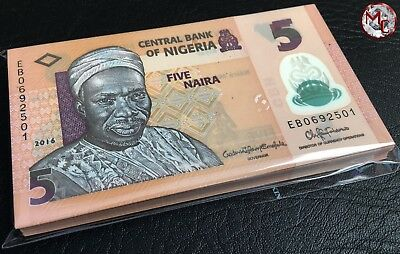 Nigeria- 5 Naira- 2016-  100 PCS Original bundle UNC !!!