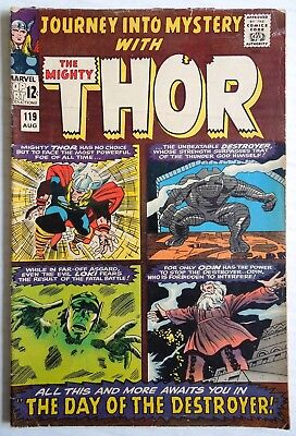 Marvel Comics The Mighty Thor #119 August 1965 Clean Used Book