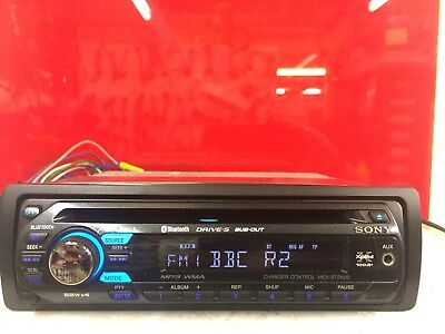 sony xplod mex-bt2600 bluetooth rds car stereo radio cd player front aux in