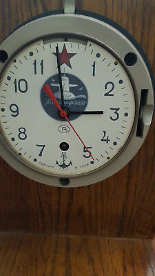 Soviet / Russian Submarine Clock--A Piece of Cold War History