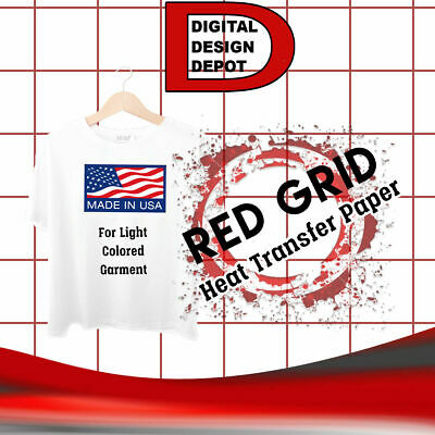 PAPEL TRANSFER PARA PRENDAS CLARAS 25 sheets RED GRID