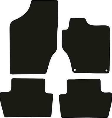 Tailored Black Car Floor Mats Carpets 4pc Set with Clips for Citroen C4 / DS4