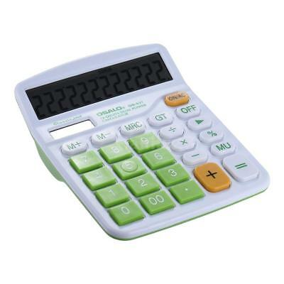 Office Dual Power Solar/Battery Electronic 12 Digits Calculator Big Buttons Z0M2