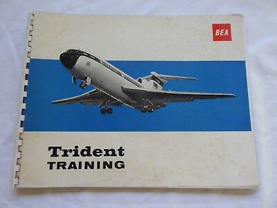 BEA Hawker Siddeley HS 121 Trident Training Brochure plus 2 Posters.