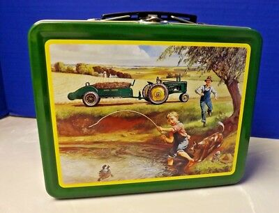 "Vintage Limited Edition Collectible John Deere Retro Lunch Box ""Turtle Trouble"""