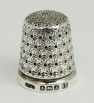 Lovely GEORGE V STERLING SILVER THIMBLE SIZE 7 Birmingham 1925 Henry Griffith