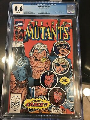 The New Mutants #87 CGC 9.6 WHITE PAGES! NEW CASE