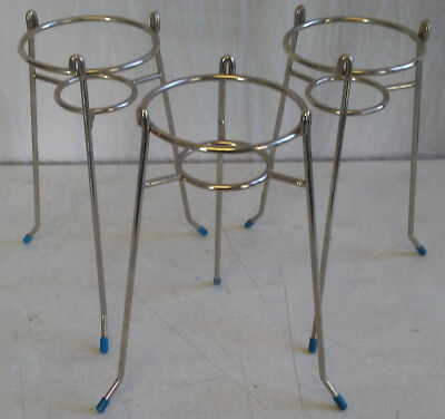 Lot of 3 tripod chemistry laboratory science beaker stand