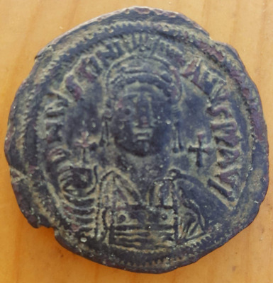 Justinian I. AD 527-565. Dated RY 15=AD 541/2. Constantinople. 1st officina  Fol